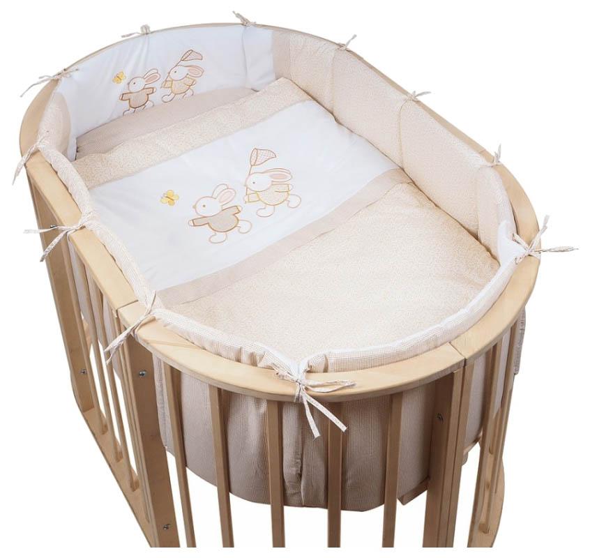 Комплект для овальной кроватки Pituso \