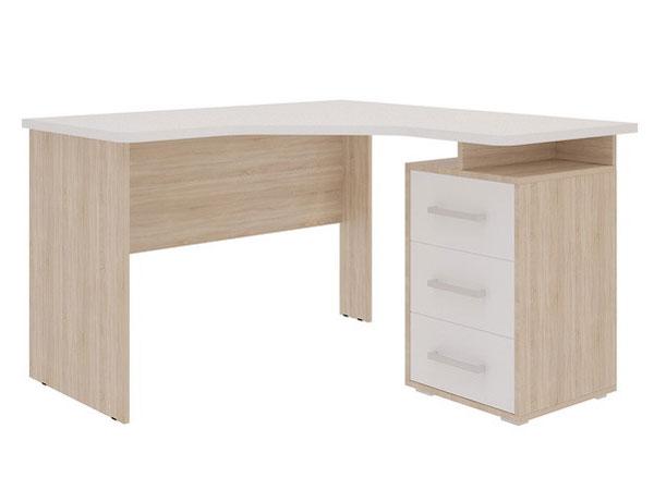 Компьютерный стол Mebelson Лайт-2 120x120x75, дуб сонома/белый
