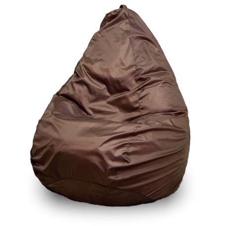 Кресло-мешок ПуффБери Груша Оксфорд, размер XXXL, оксфорд, коричневый