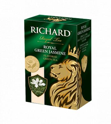 Чай Richard Royal Green Jasmine зеленый с жасмином листовой 90 г фото