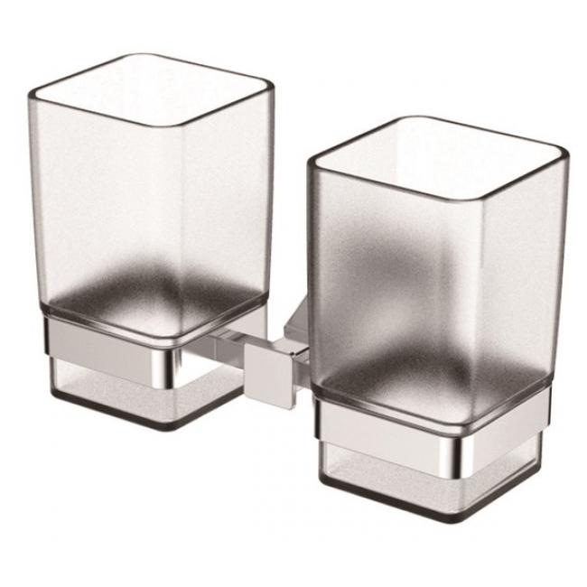 Держатель стаканов двойной(стекло) KAISER хром