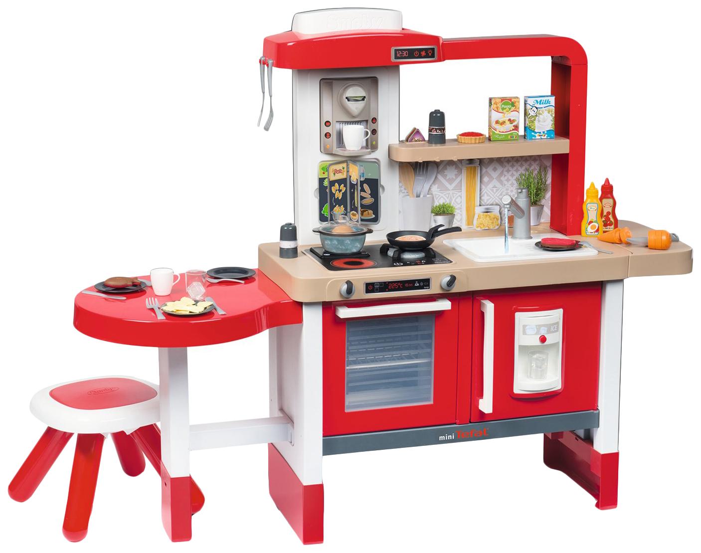 Купить Кухня детская Smoby Tefal Evolutive SM312301 134 см 43 предмета, Детская кухня