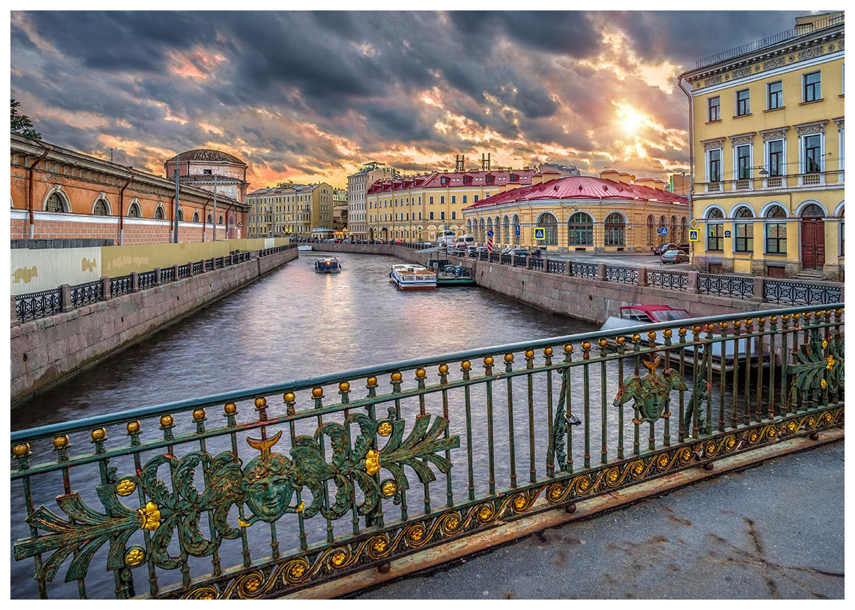 Купить Пазл Konigspuzzle Россия Санкт-Петербург. Река Мойка ГИК1000-6526 1000 деталей, Königspuzzle, Пазлы