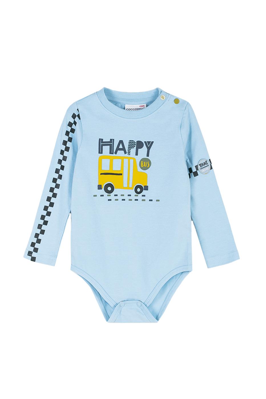 Купить Z191121M1TAX, Боди для мальчика Coccodrillo, 80 р-р, цв.голубой, Боди для новорожденных
