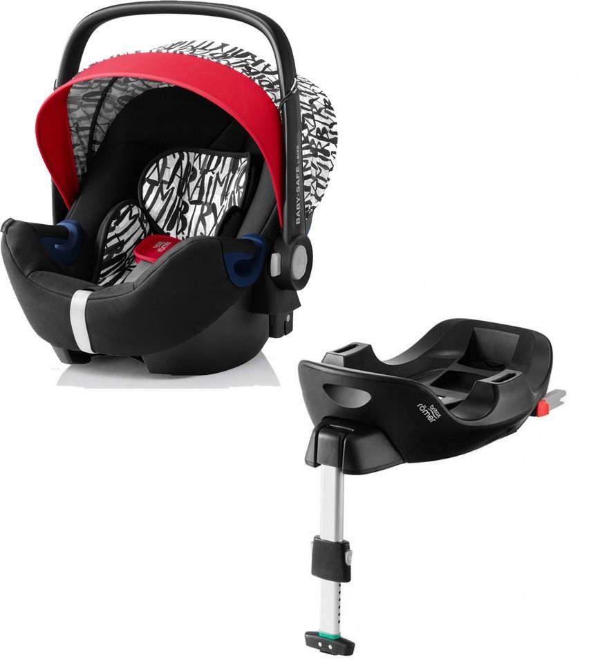 Автокресло Britax Roemer Baby-Safe i-Size Letter Design + база FLEX группа 0+, до 13 кг