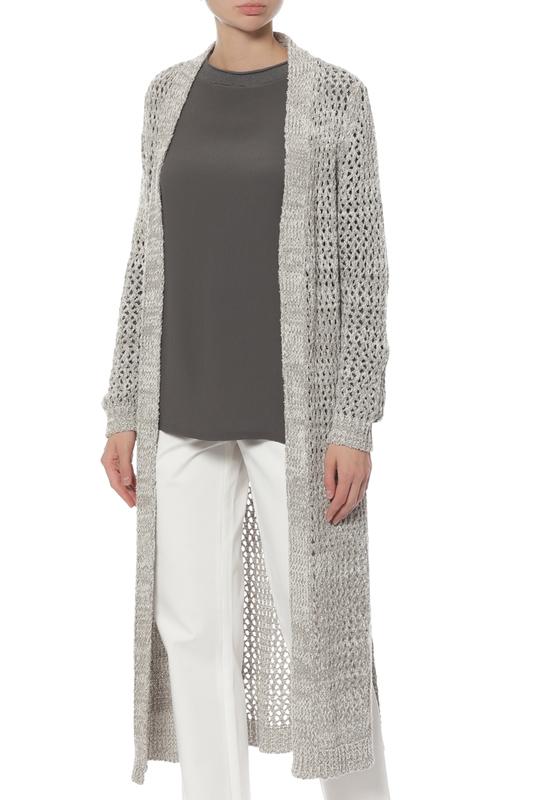 Кардиган женский LORENA ANTONIAZZI LP3365C2/2590/0003 серый 46 IT