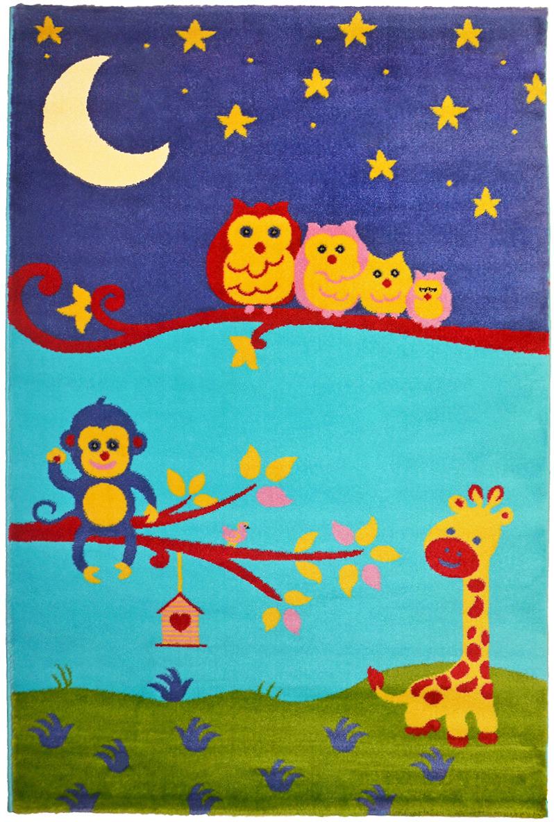 Ковер детский цвет голубой/фиолетовый 60 x 110 арт, УКД-2021