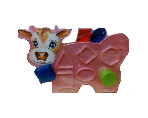 Купить Сортер Игрушки Вашего Детства Коровка 2С466 Аэлита, Сортеры