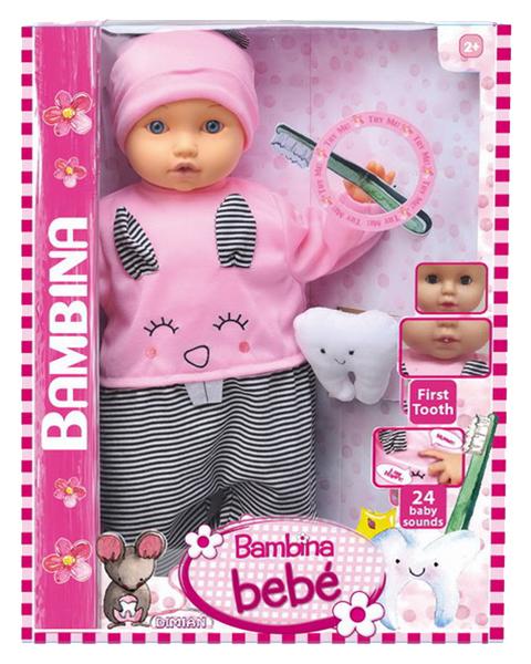 Купить Кукла Dimian Bambina Bebe 46 см Мой первый зуб звуковые эффекты, Классические куклы