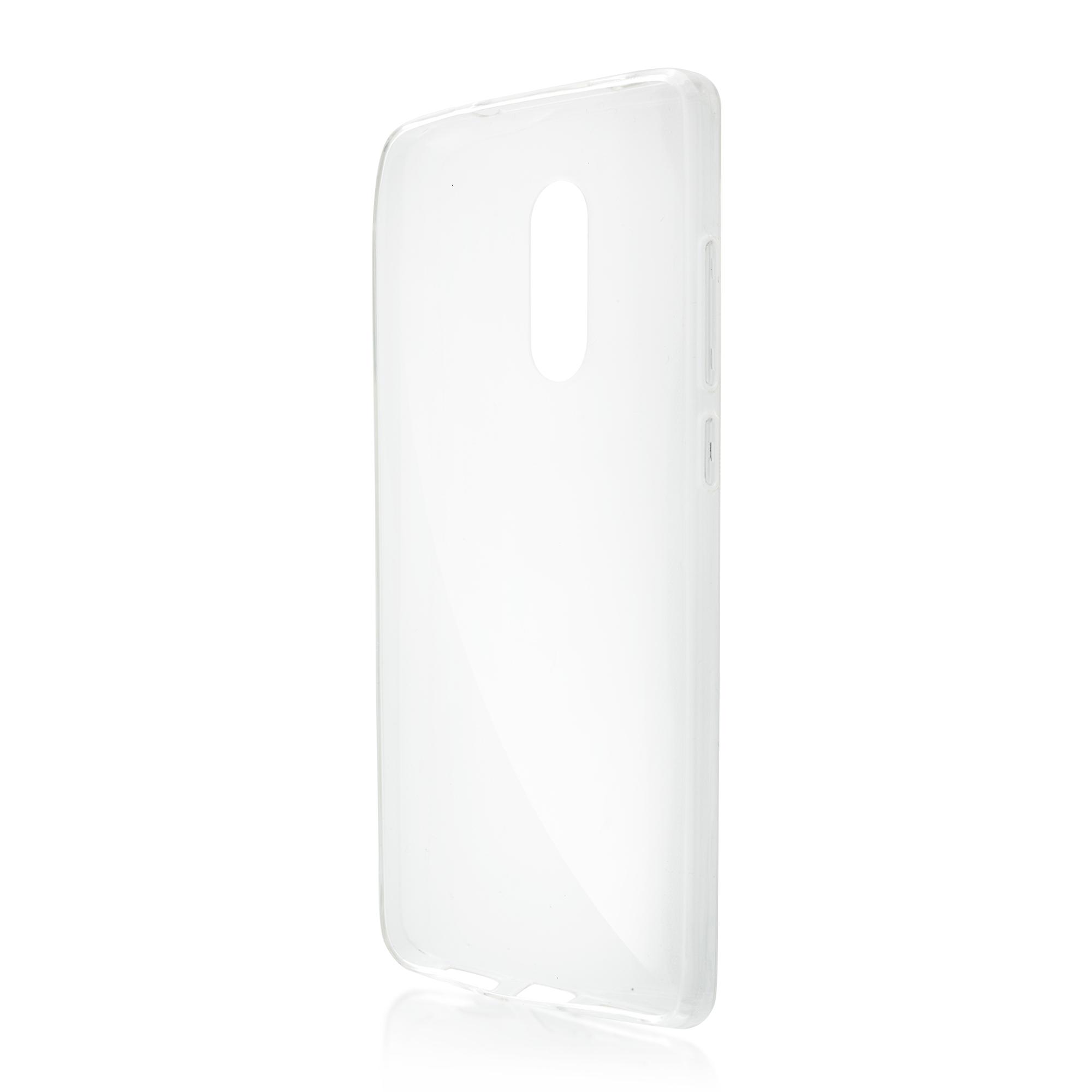Силиконовый чехол Brosco для Xiaomi Redmi Note 4X, прозрачный