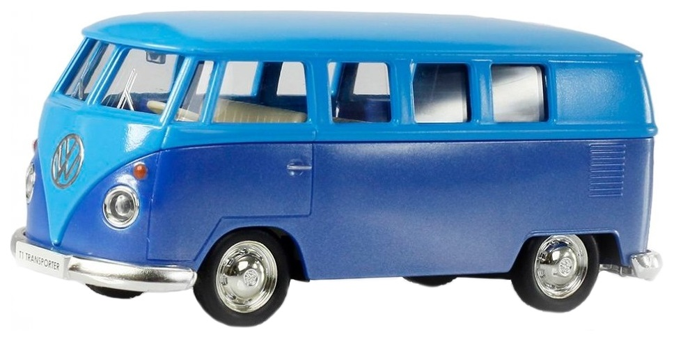 Купить Автобус Rmz City Volkswagen Type 2 Transporter голубой 1:32, Городской транспорт