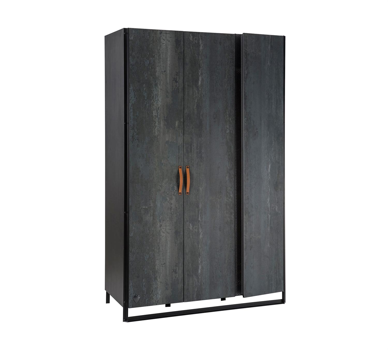 Шкаф Cilek Dark Metal трехдверный, Шкафы в детскую комнату  - купить со скидкой