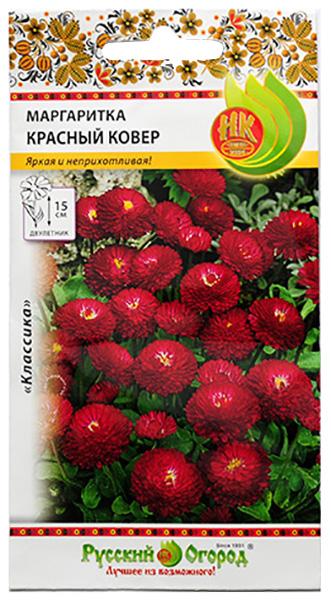 Семена Маргаритка Красный ковер, 0,05 г Русский огород