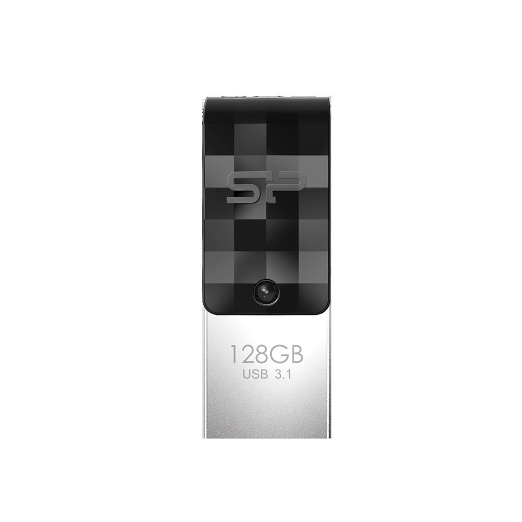 Флешка 128Gb Silicon Power Mobile C31 OTG USB 3.1/Type-C Black