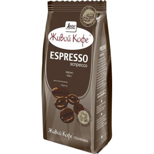 Кофе в зернах Живой Кофе эспрессо 1 кг фото