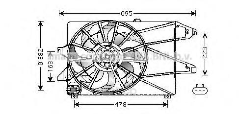 Вентилятор охлаждения Ford Mondeo 00 07