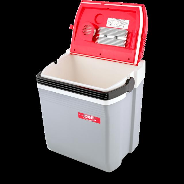 Автохолодильник EZETIL E 28 серый, красный, белый