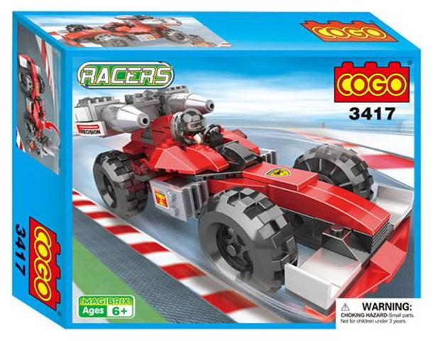 Конструктор пластиковый COGO Racers - Спортивная машина 160 деталей