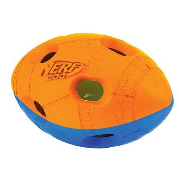 Игрушка Nerf Мяч гандбольный двухцветный светящийся для собак