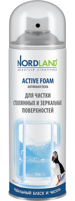 Пена Nordland для чистки зеркальных и стеклянных поверхностей 500 мл