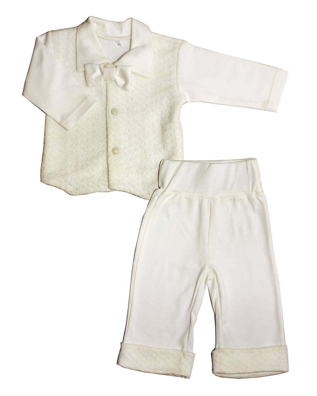 Комплект одежды Осьминожка для мальчика с бабочкой бежевый р.86
