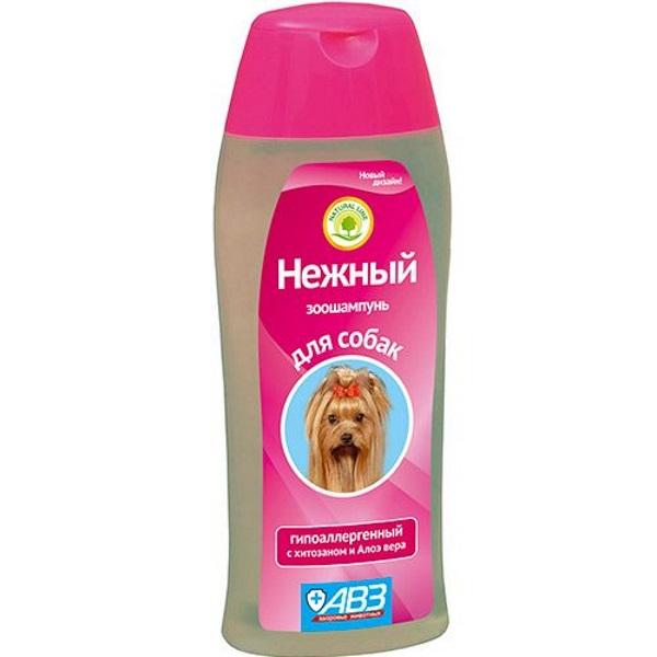 Шампунь для собак АВЗ Нежный гипоаллергенный с хитозаном и алоэ вера 270мл