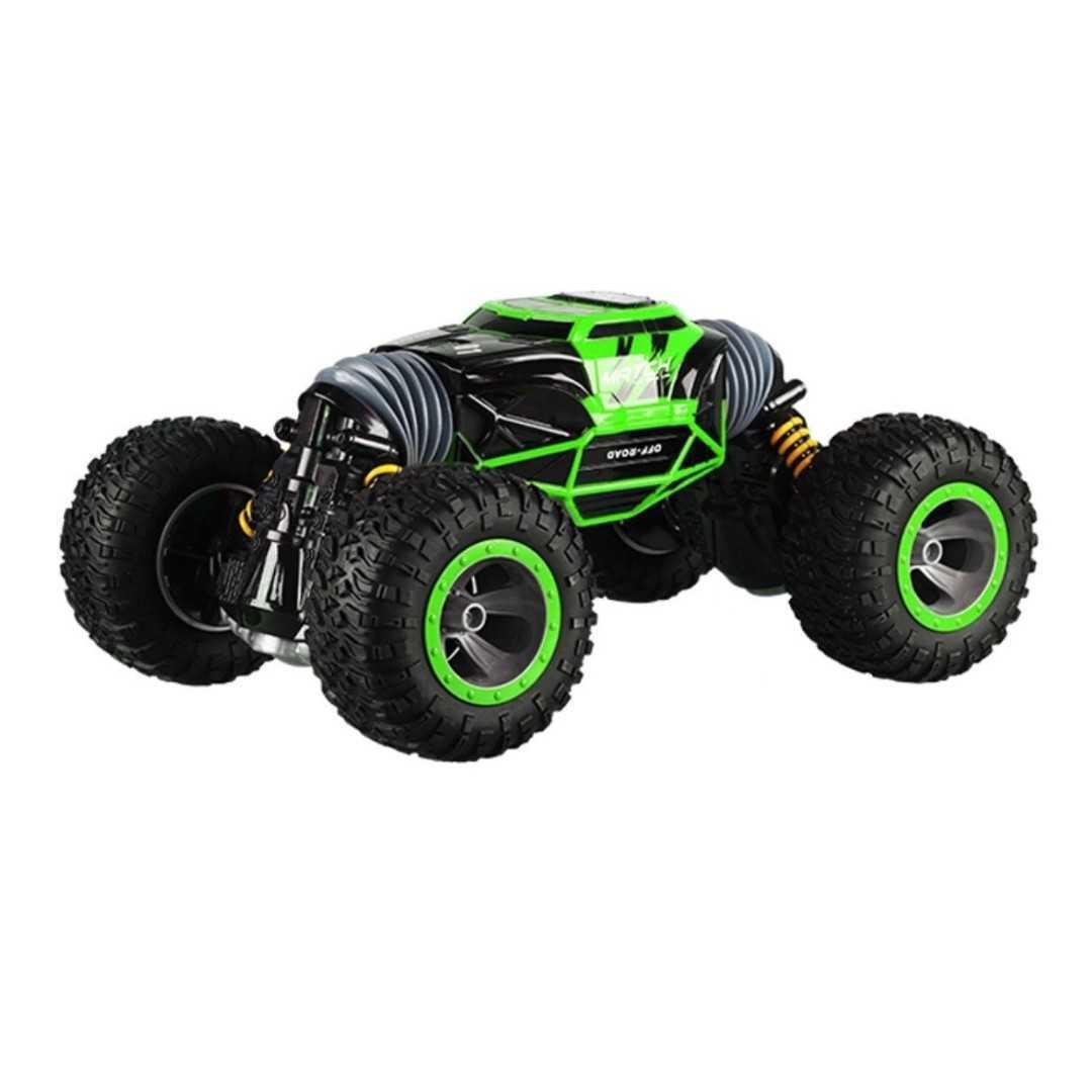 Купить Машинка-перевертыш на радиоуправлении Hyper Actives Stunt зеленая Leopard King №1 49 см,