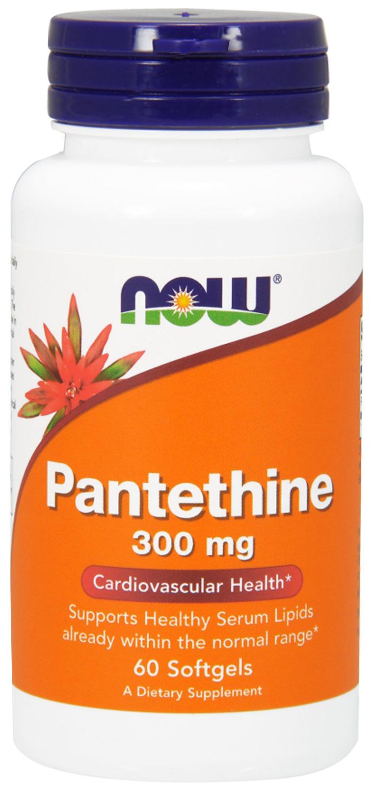 Купить Витамины группы B Now Pantethine (300 мг) 60 гелевых капсул