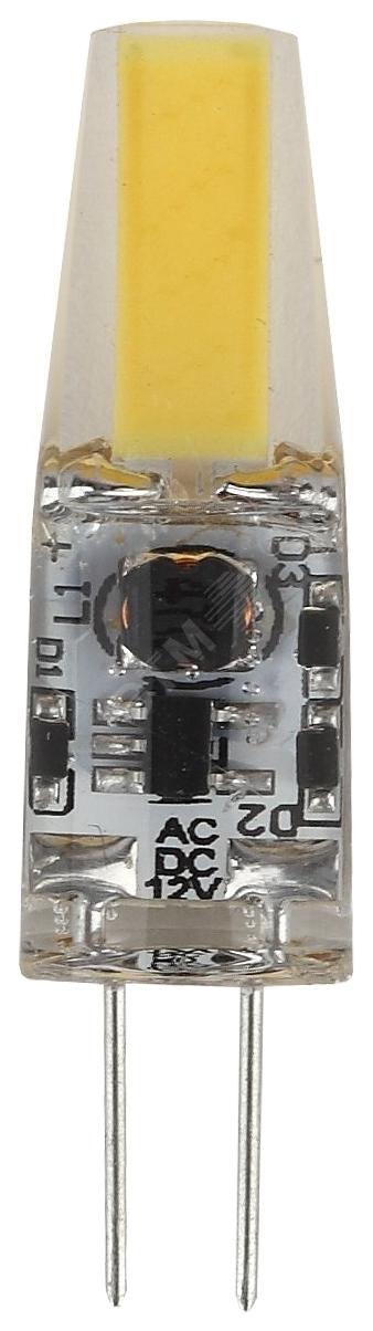 Лампочка Эра G4 1,5W 120Lm 4000K прозрачная капсула