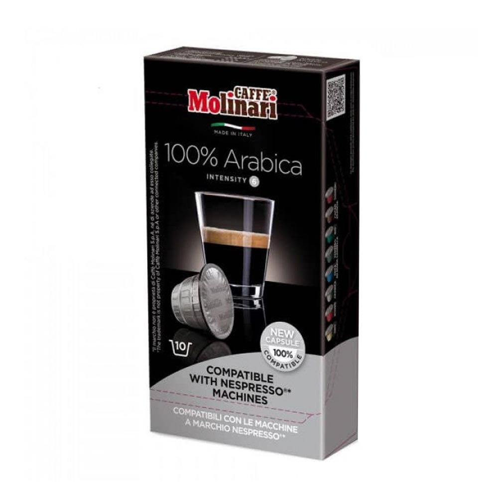 Капсулы Molinari 100% Arabica для кофемашин Nespresso 10 капсул фото