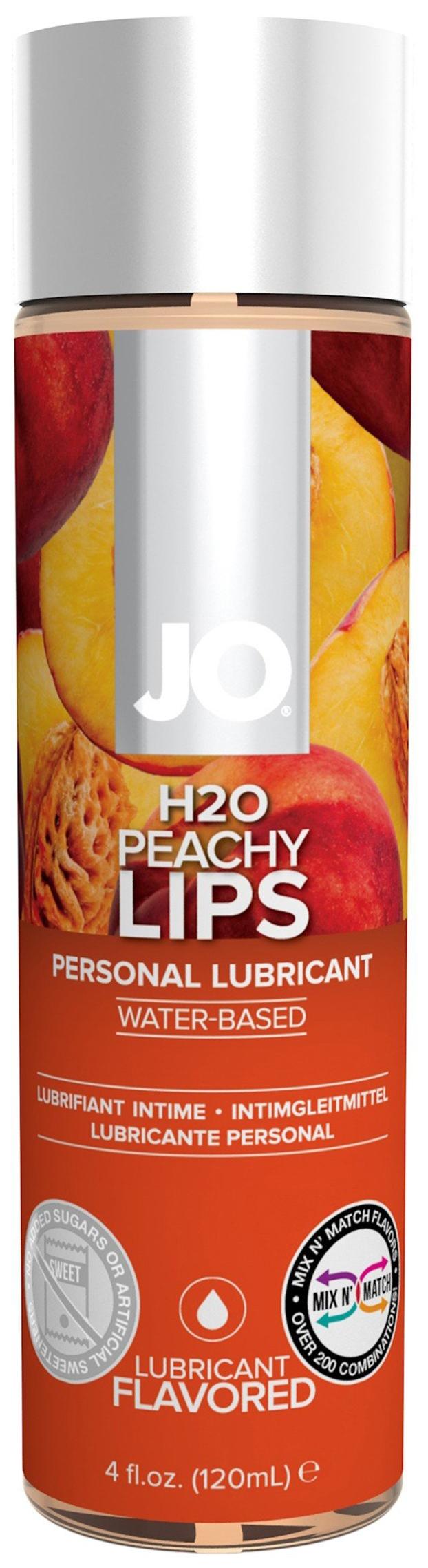 Купить Гель-смазка JO Flavored Peachy Lips на водной основе с ароматом персика 120 мл, System JO