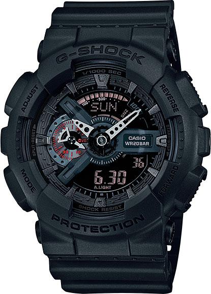 Японские наручные часы Casio G-Shock GA-110MB-1A с хронографом фото