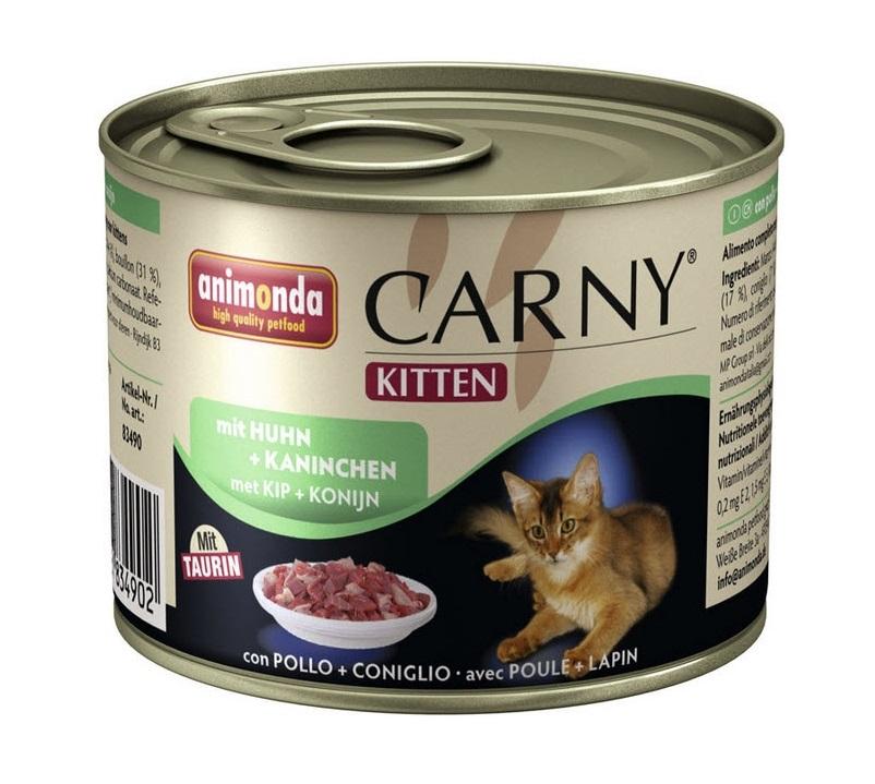 Консервы для котят Animonda Carny Kitten, кролик,