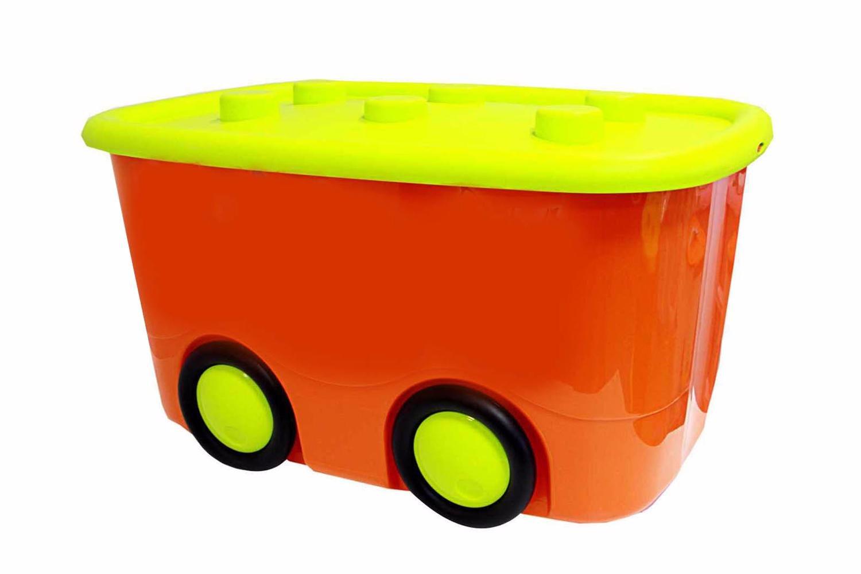 Ящик для хранения игрушек Idea Моби оранжевый