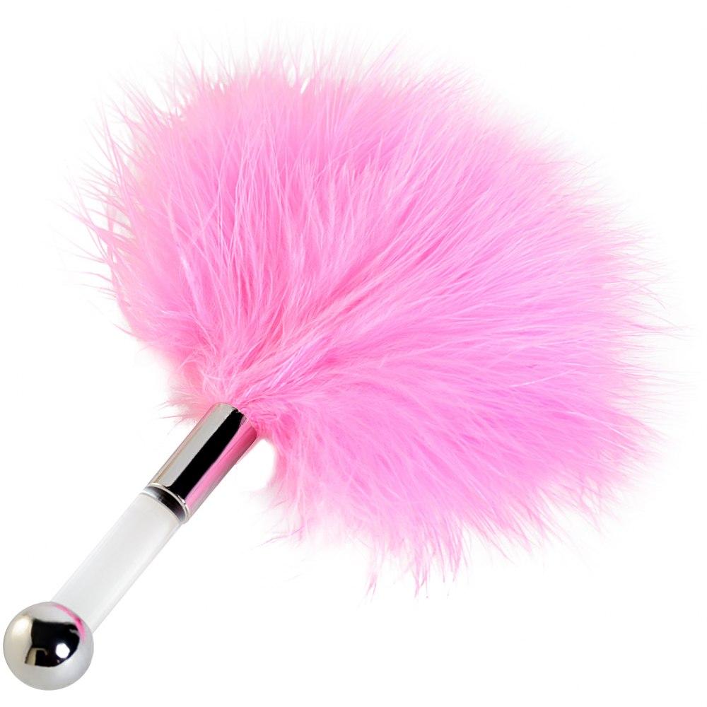 Щекоталка ToyFa пуховая розовый