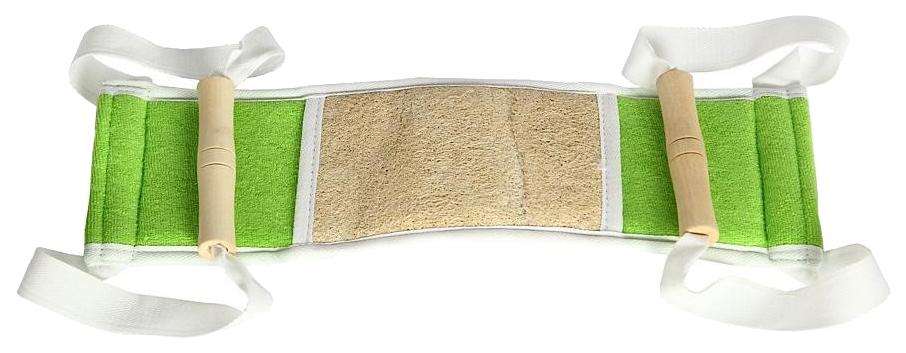 Мочалка для тела Azur с деревянными ручками 10*35 см