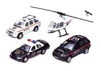 Набор машин спецслужб Welly 98160-4a Полиция