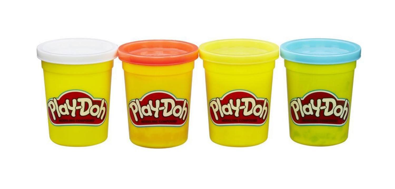 Купить Набор для лепки из пластилина Play-doh из 4 баночек B5517 B6509, Наборы для лепки Play-Doh