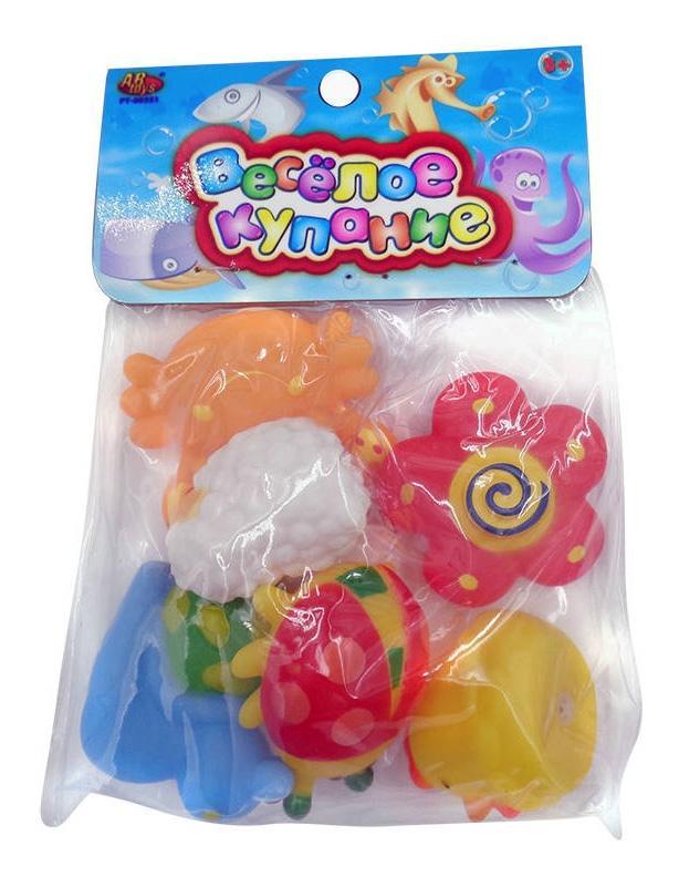 Купить Веселое купание. набор резиновых игрушек для ванной pt-00351, ABtoys, Игрушки для купания малыша