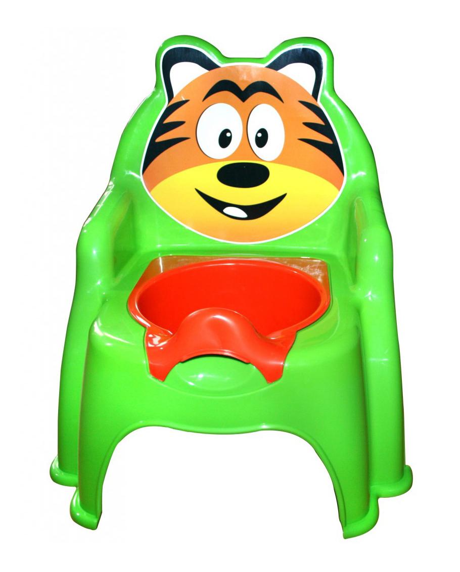 Купить Тигра салатовый, Горшок детский Doloni Тигра салатовый,