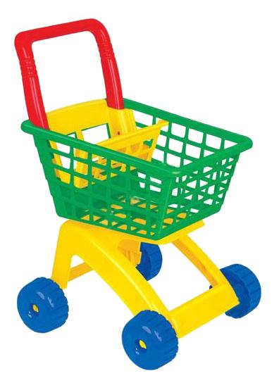 Купить Для маркета, Тележка игрушечная Полесье для маркета зеленый, желтый, синий, Детские тележки для супермаркета