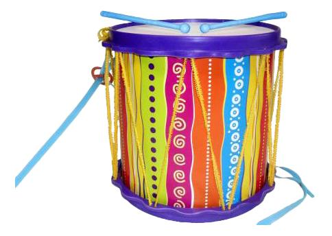Купить Барабан игрушечный ТулИгрушка Барабан Походный, Детские музыкальные инструменты