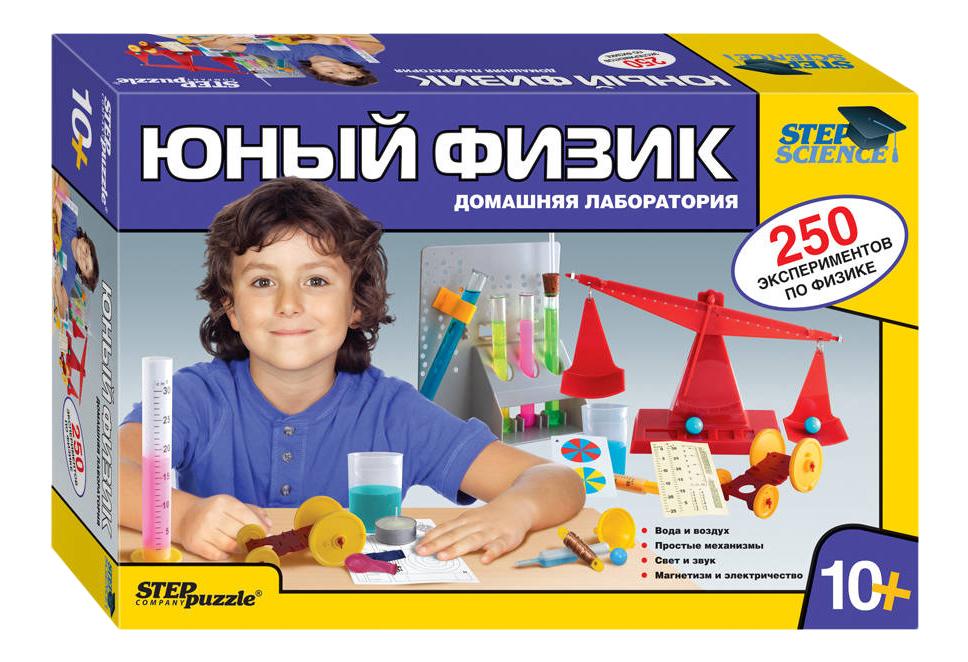 Семейная настольная игра Step Puzzle Юный физик Домашняя лаборатория 76093