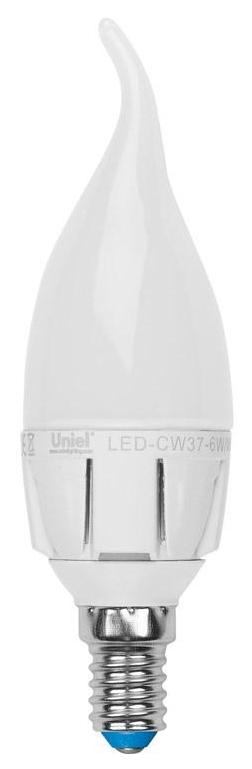 Лампа светодиодная диммируемая (08693) E14 6W 3000K LED-CW37-6W/WW/E14/FR/DIM