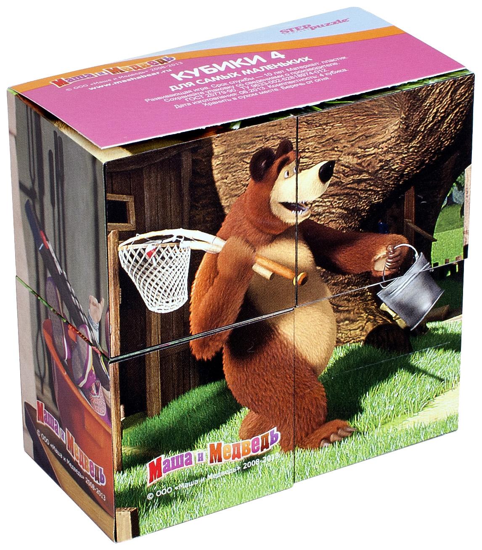 Детские кубики Step Puzzle Маша и Медведь,  - купить со скидкой