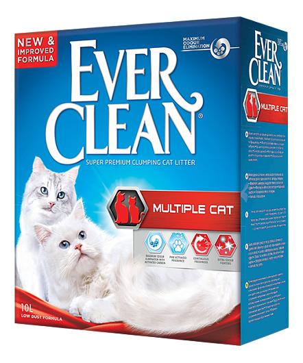 Комкующийся наполнитель для кошек Ever Clean Multiple Cat бентонитовый, 10 кг, 10 л фото