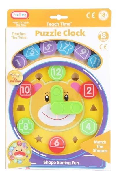 Купить Часы-пазл, Развивающая игрушка Fun Time Часы-пазл , Пазлы для малышей