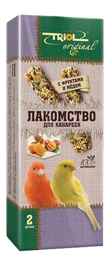 Лакомства для птиц Triol с фруктами