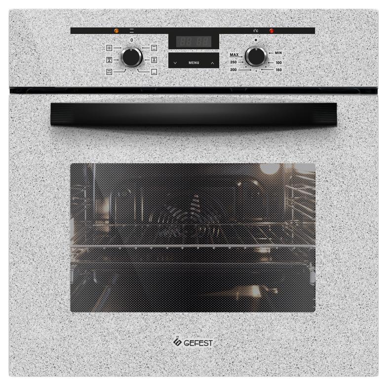 Встраиваемый электрический духовой шкаф GEFEST ДА 622-02 К46 White/Grey