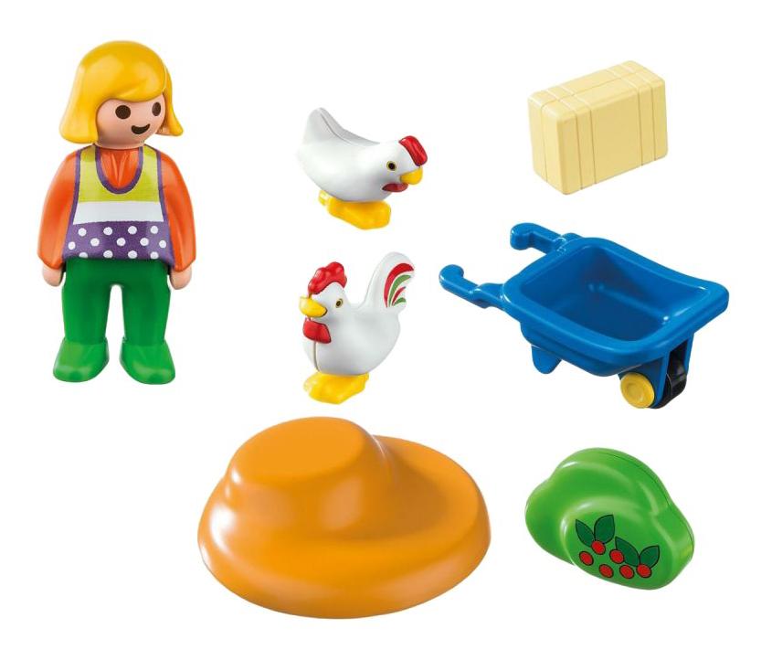 Игровой набор PLAYMOBIL 1.2.3.: Жена фермера с курочками